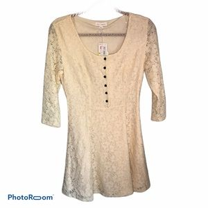 Anthropologie Coco+Jameson Ivory Lace Dress NWT